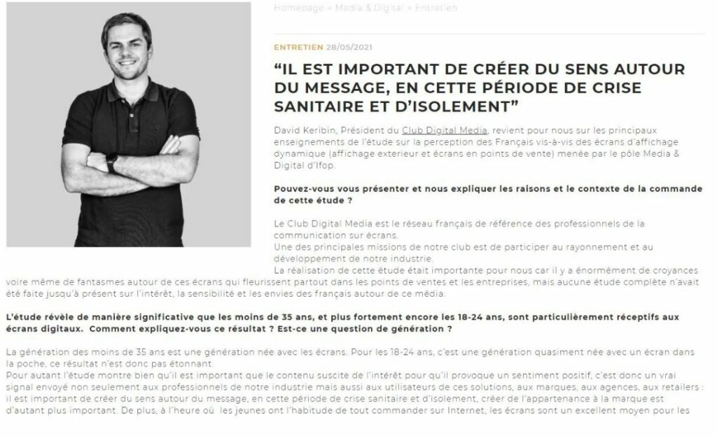 Interview IFOP étude CDM