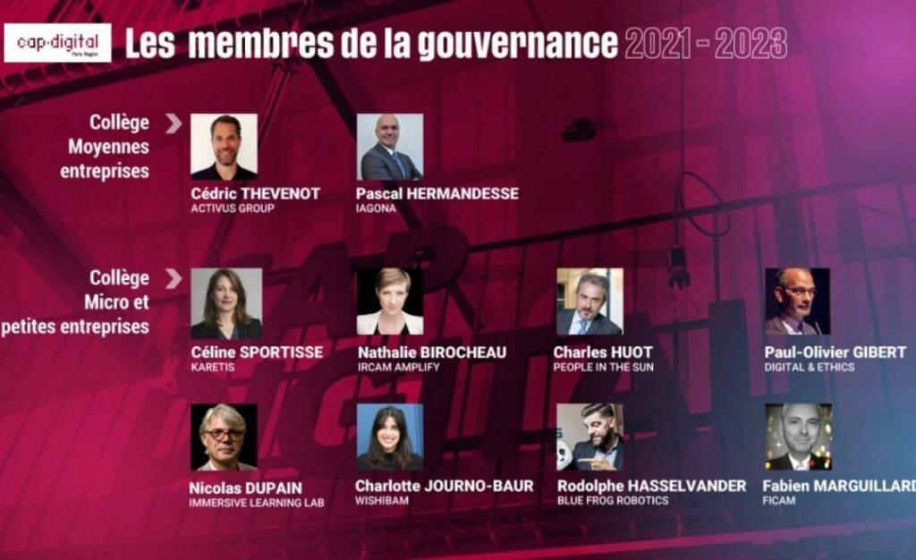 Cap Digital membres de la gouvernance 2021-2023